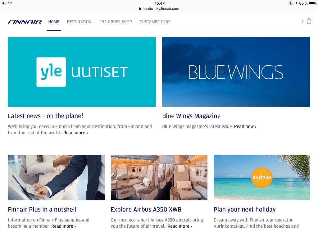 Finnair nettiyhteys