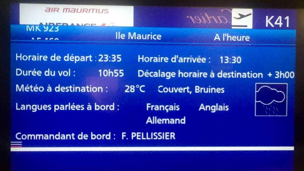 Pariisi, matkalla Mauritiukselle