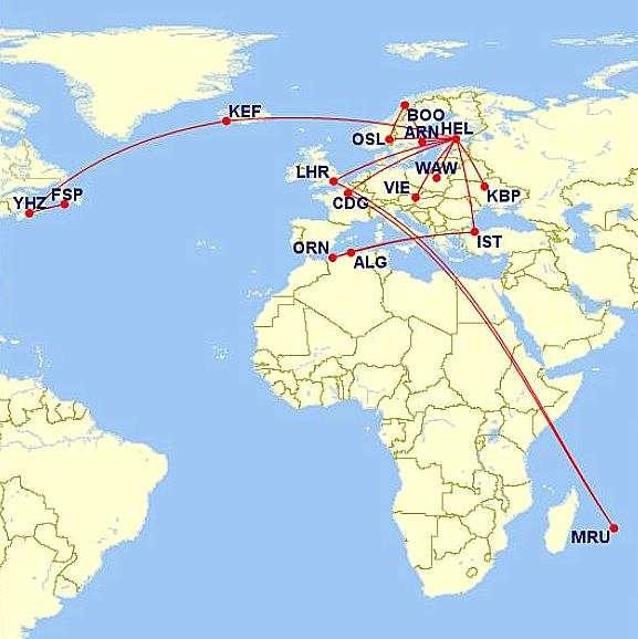2016 lentokartta