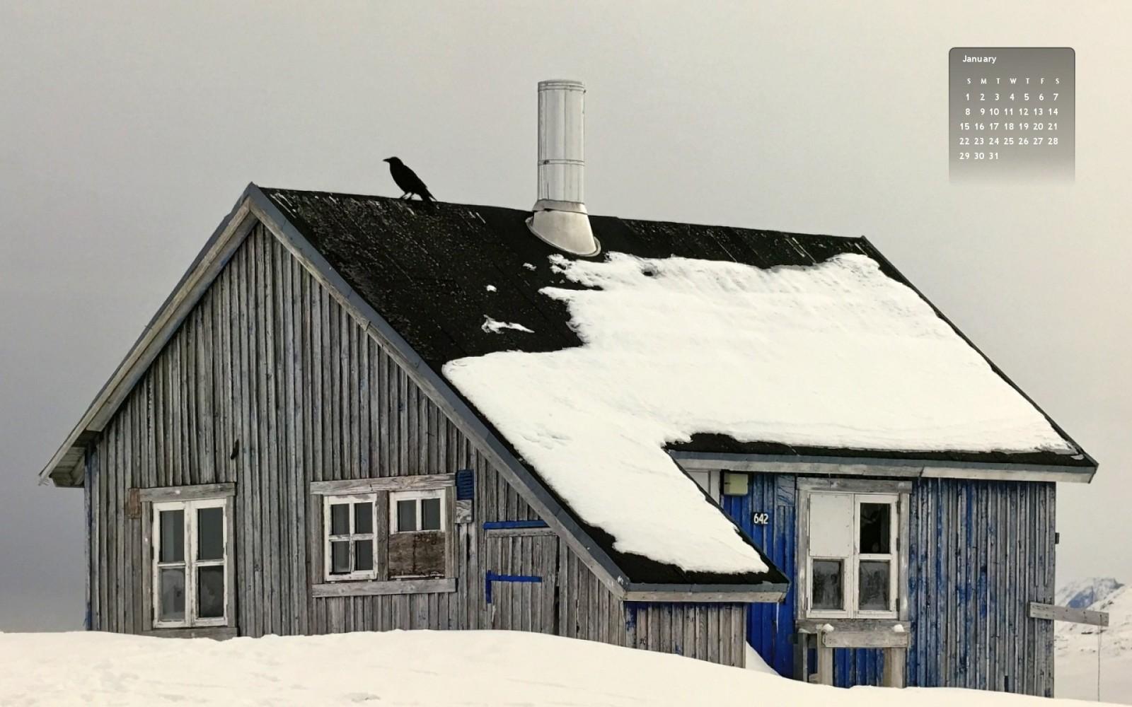 January 2017 wallpaper Tiina Itkonen Grönlanti