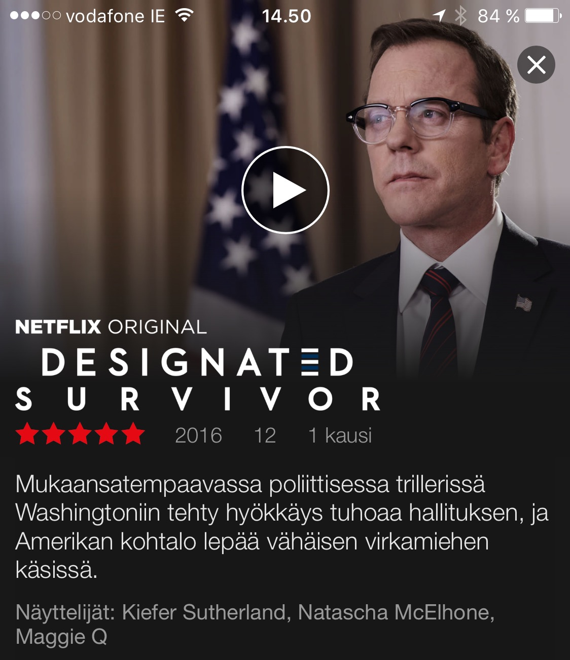 Netflix Designated Survivor