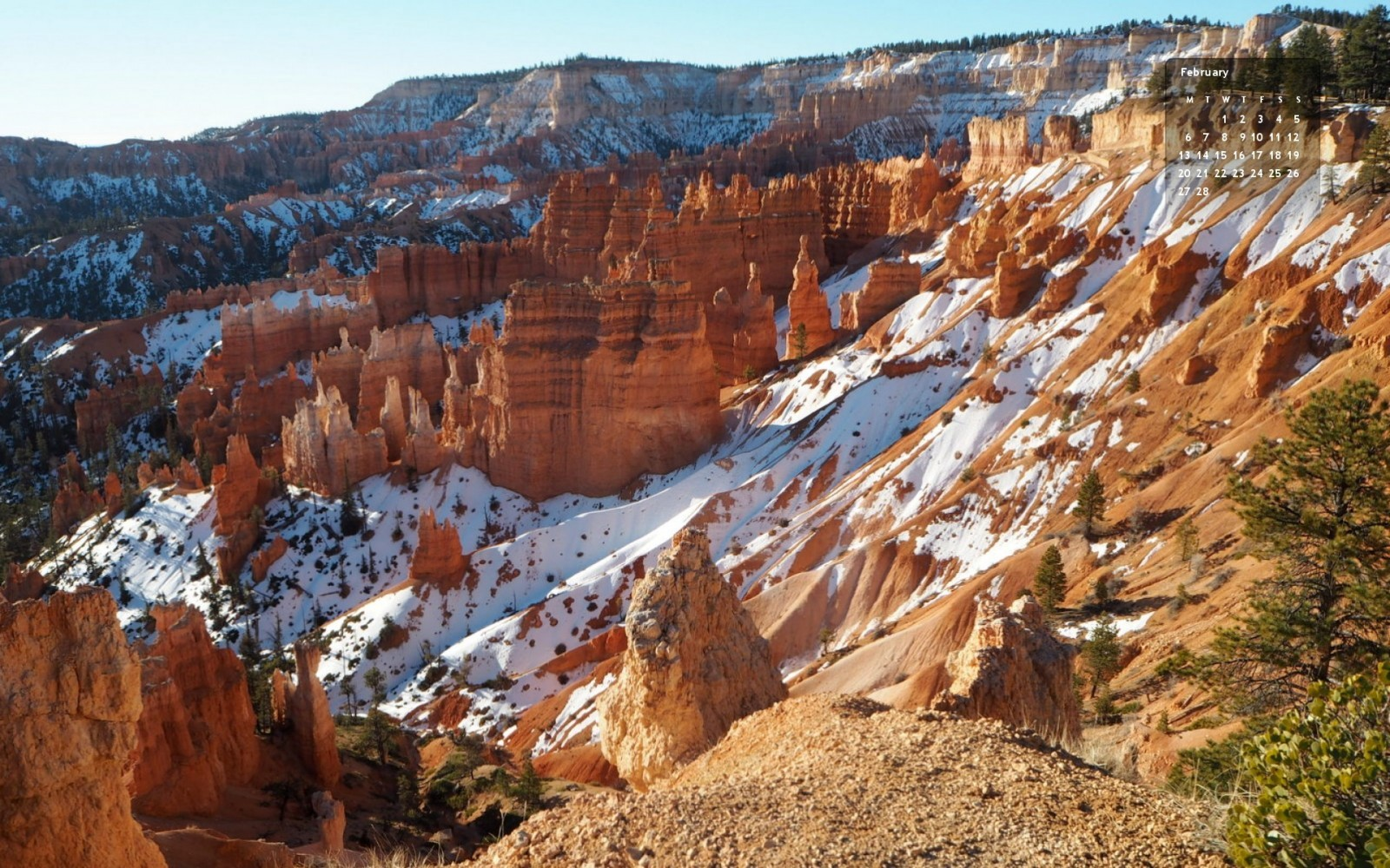 Wallpaper Bryce Canyon Feb 2015