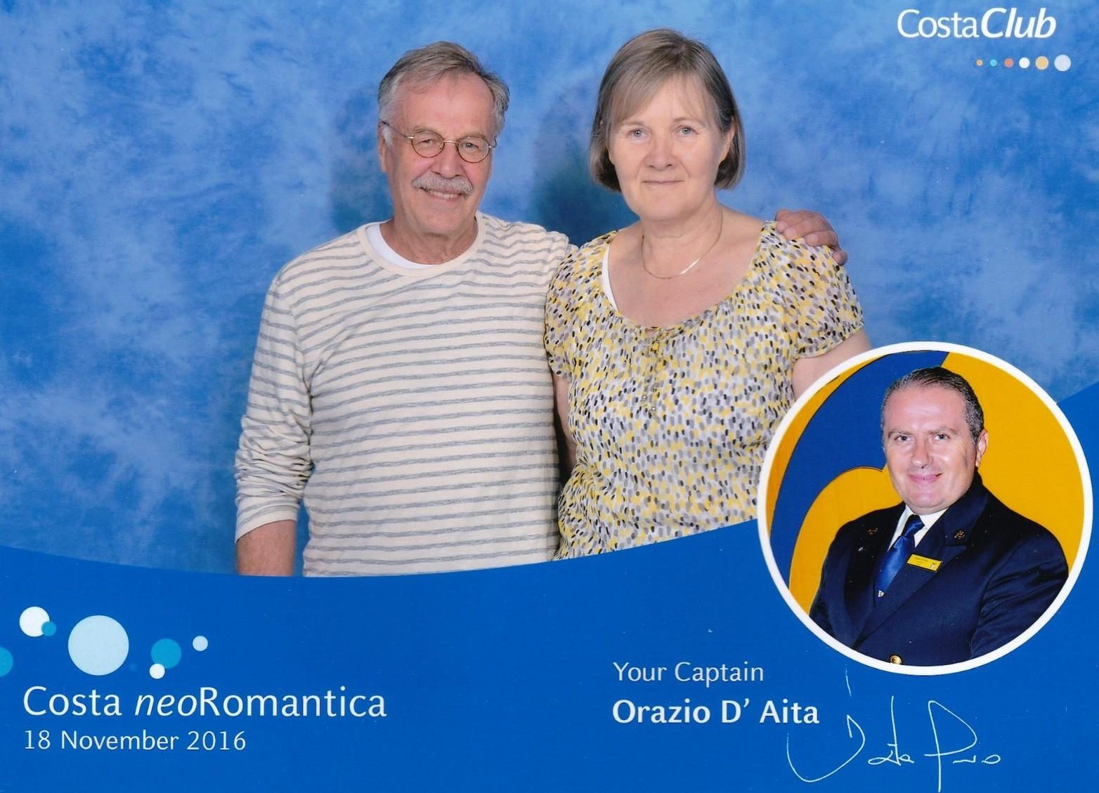 Costa neoRomantica captain