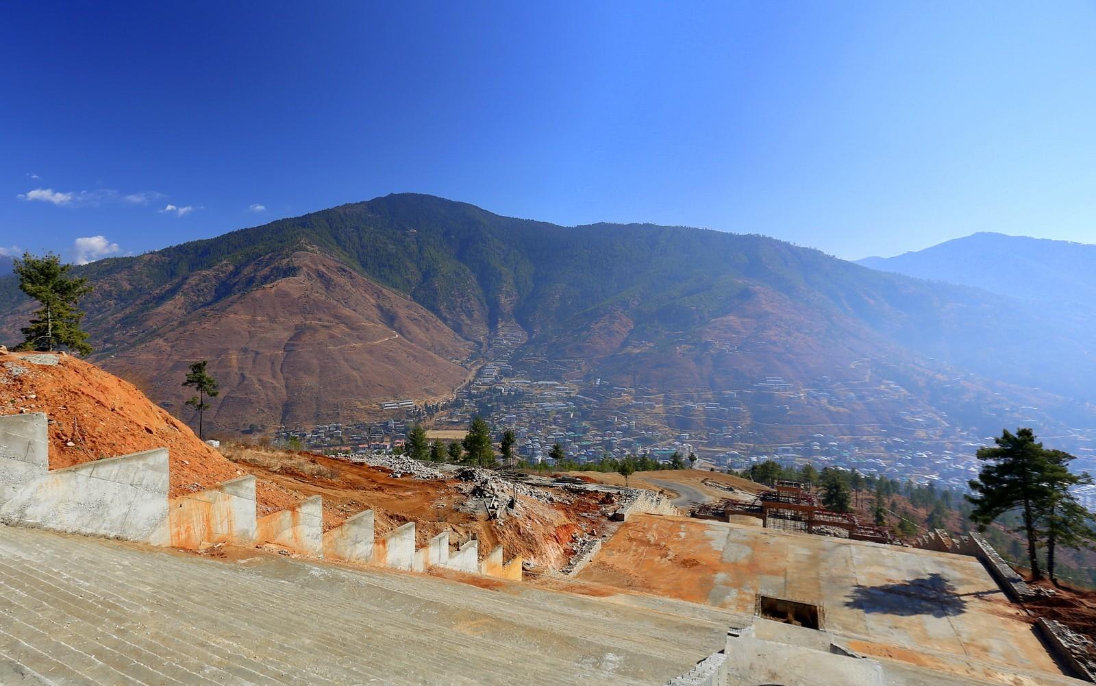 Thimphu buddha stairs