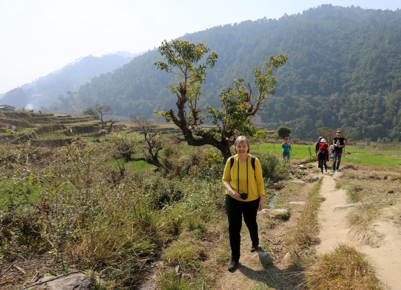 Harjoitusvaelluksella Punakhassa