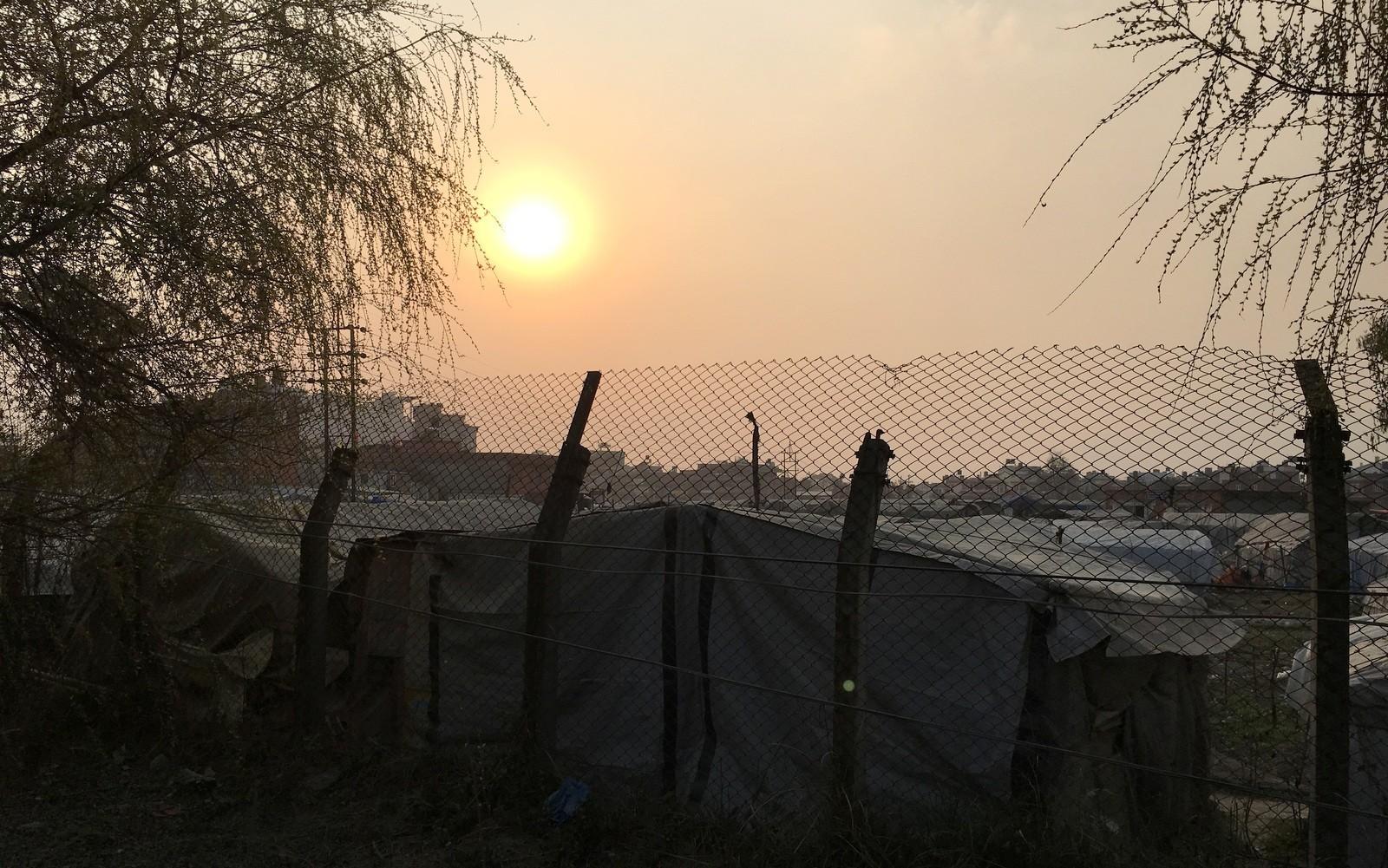 Kathmandu auringonlasku