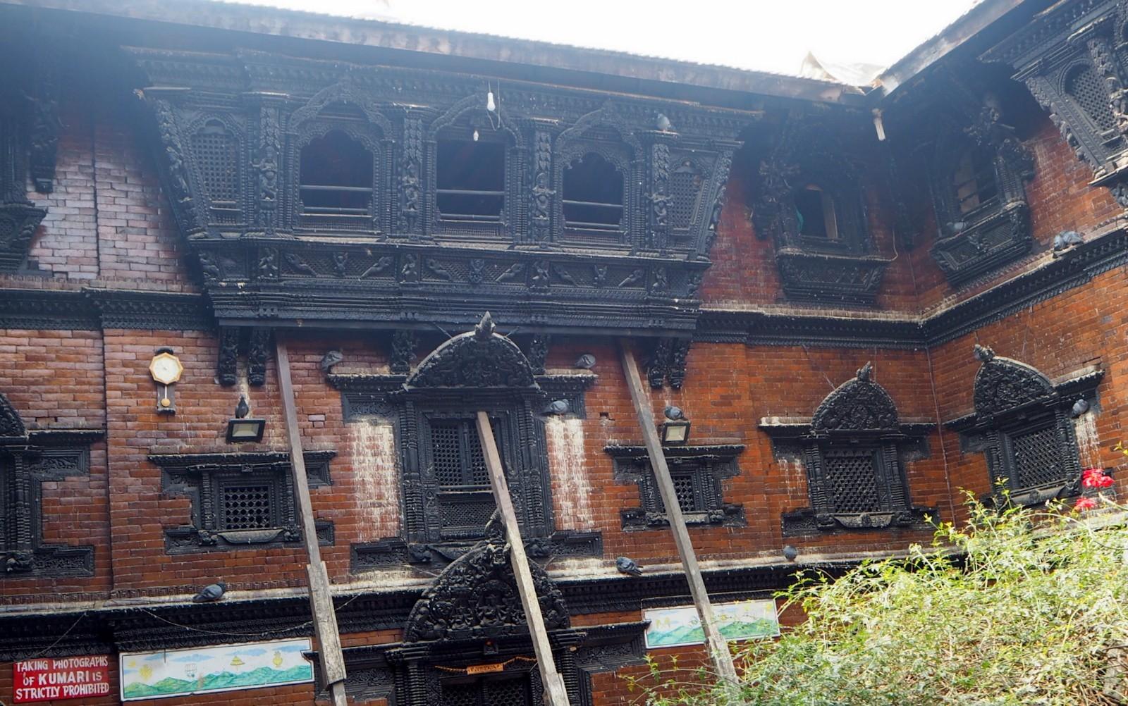 Kathmandu lapsijumalan palatsi