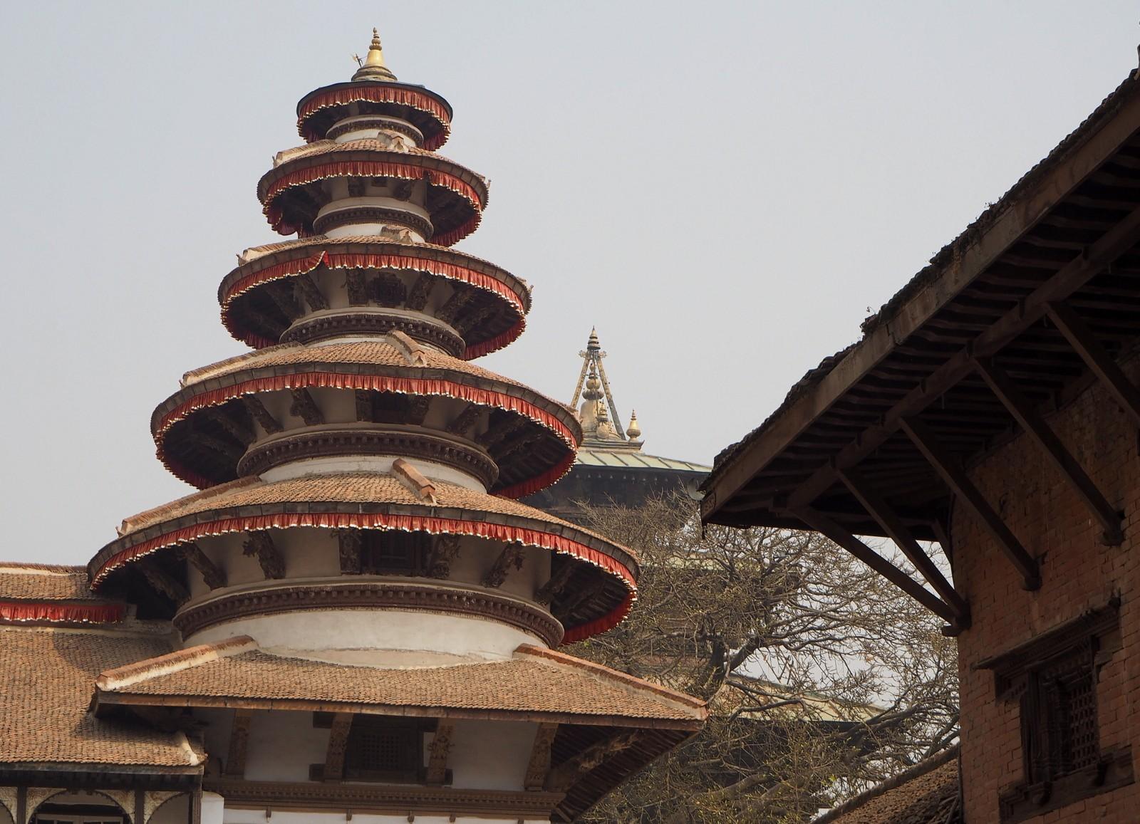 Kathmandu kuninkaanlinnan sisäpiha