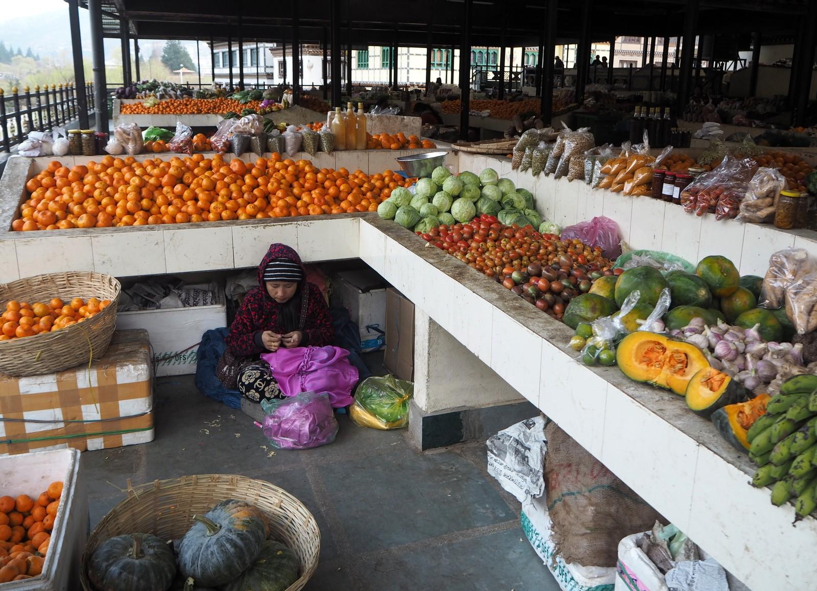 Thimphun markkinoilla