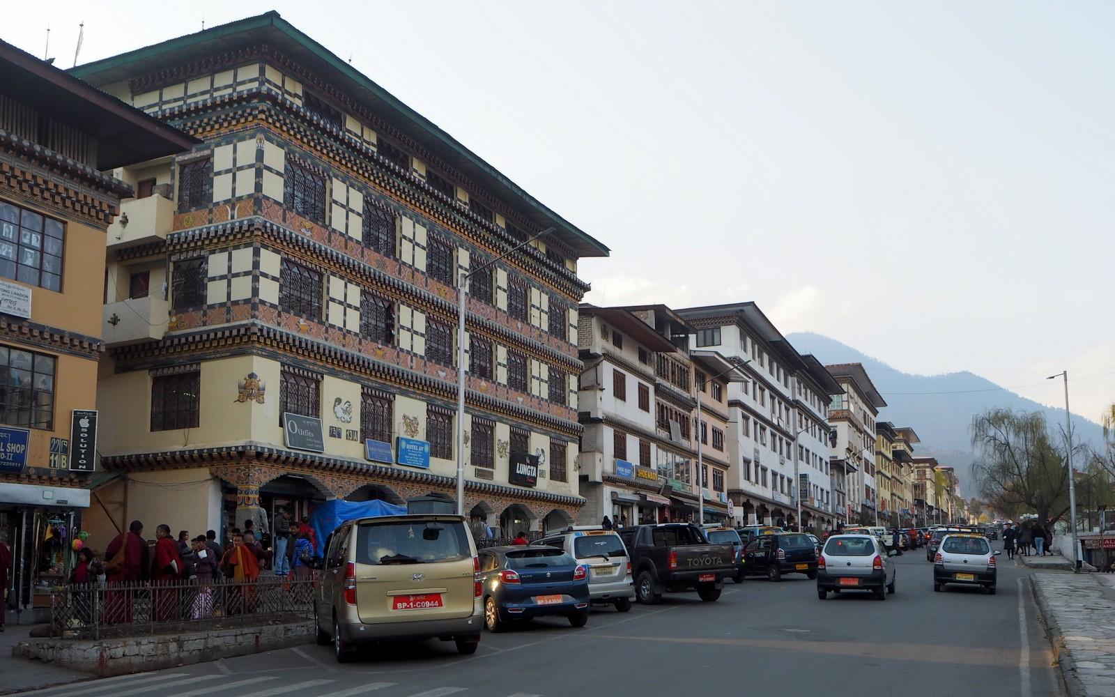 Thimphun keskustaa