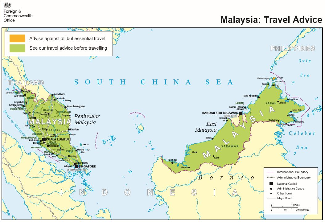 Malesia brittien kartta