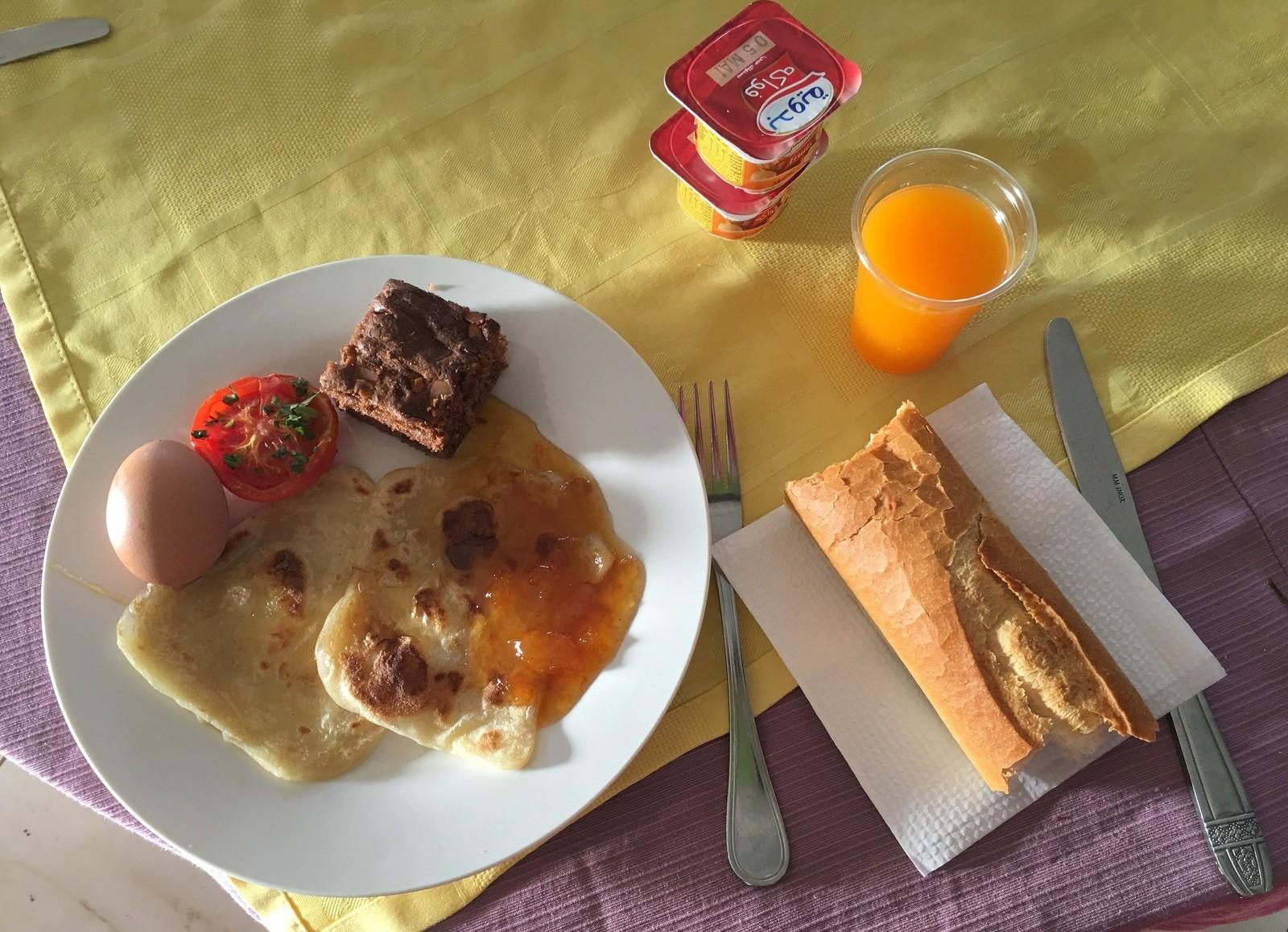 Tyypillinen TSS-aamiainen