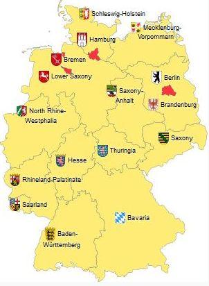 Saksan osavaltiot MTP-pisteet Saksa