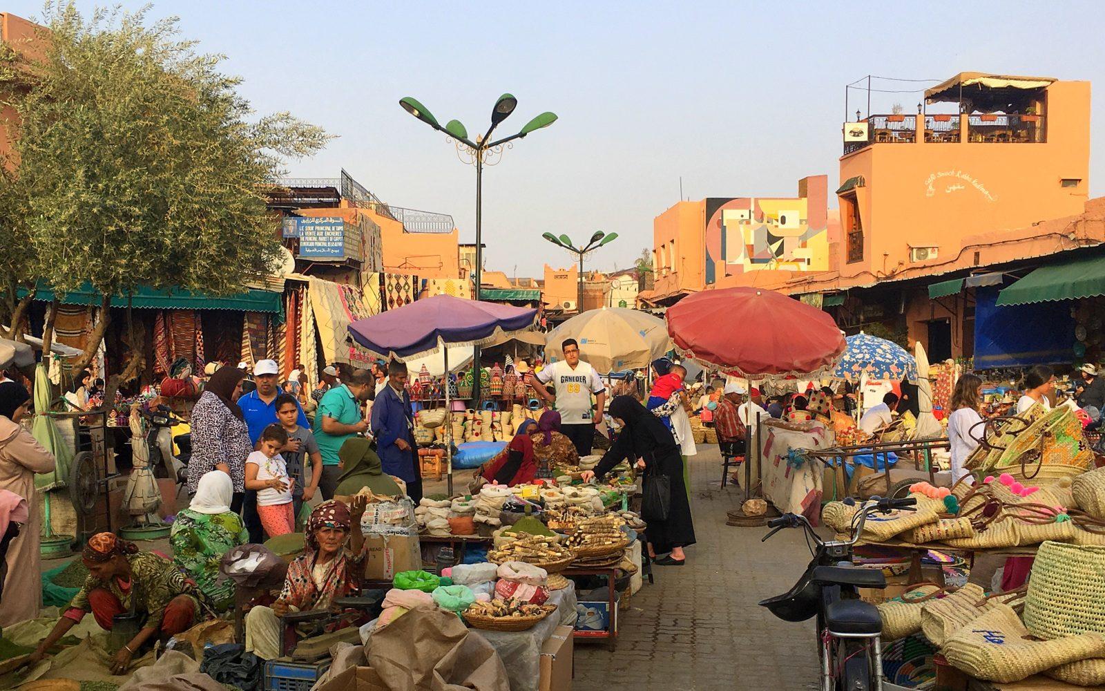 Marrakeshin medina spices