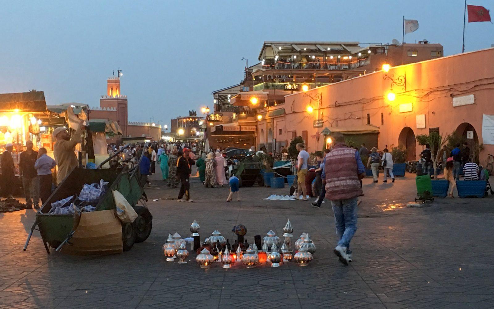Marrakeshin medina Jemal el-Fna