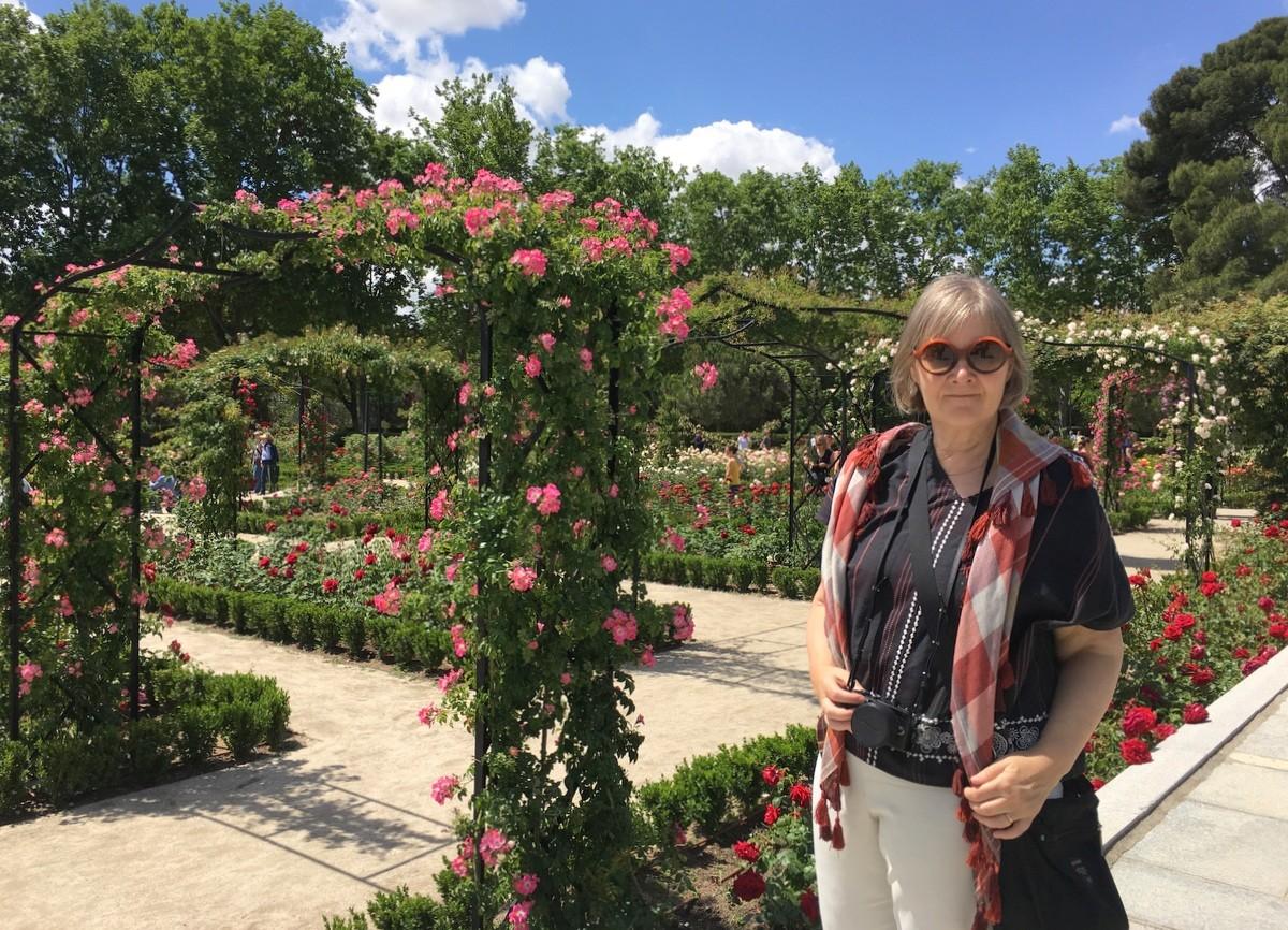 Madrid Retiro Rosaleda rosegarden - Madrid ruusujen kaupunki