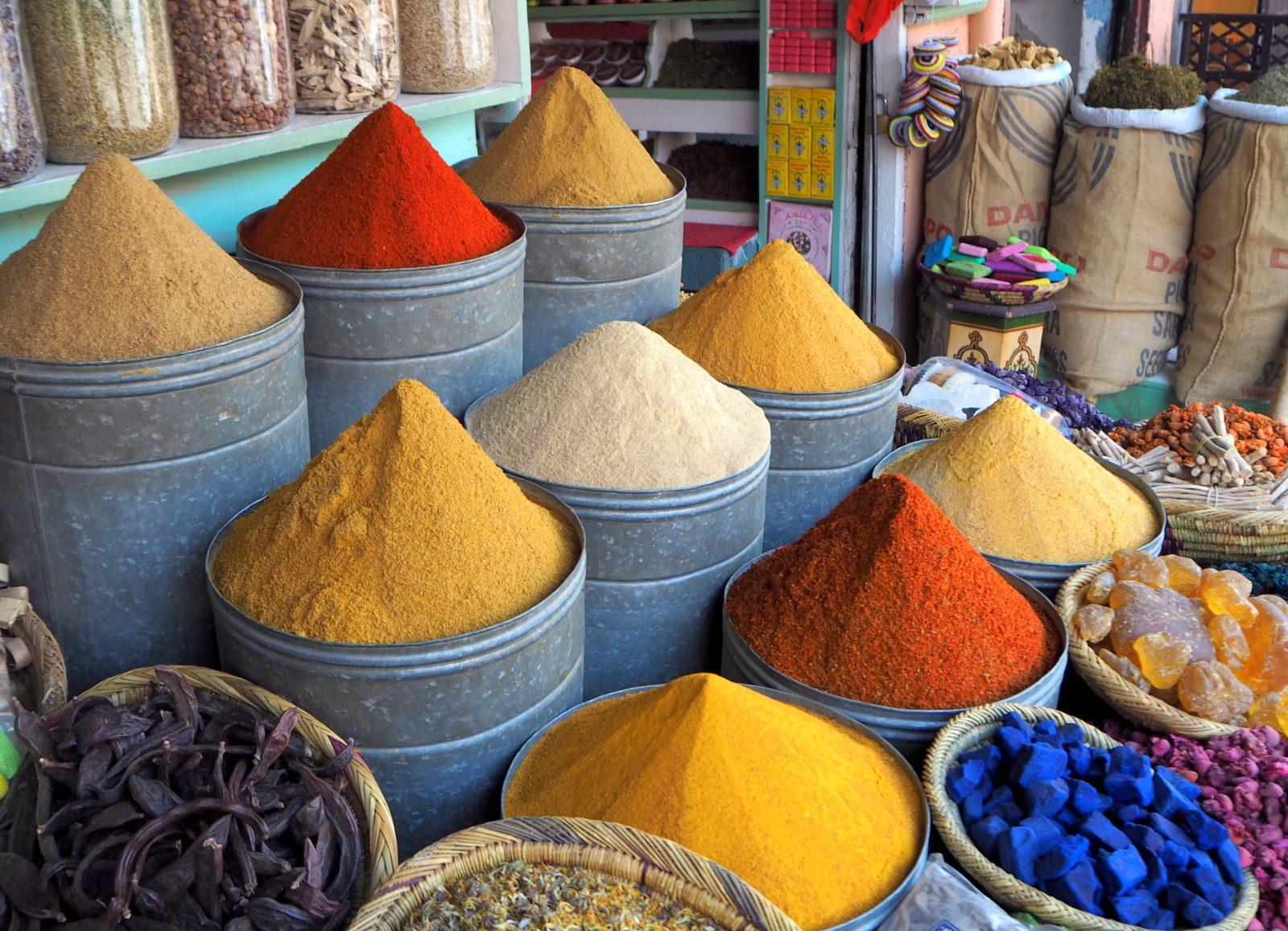 Marrakesh medina spices