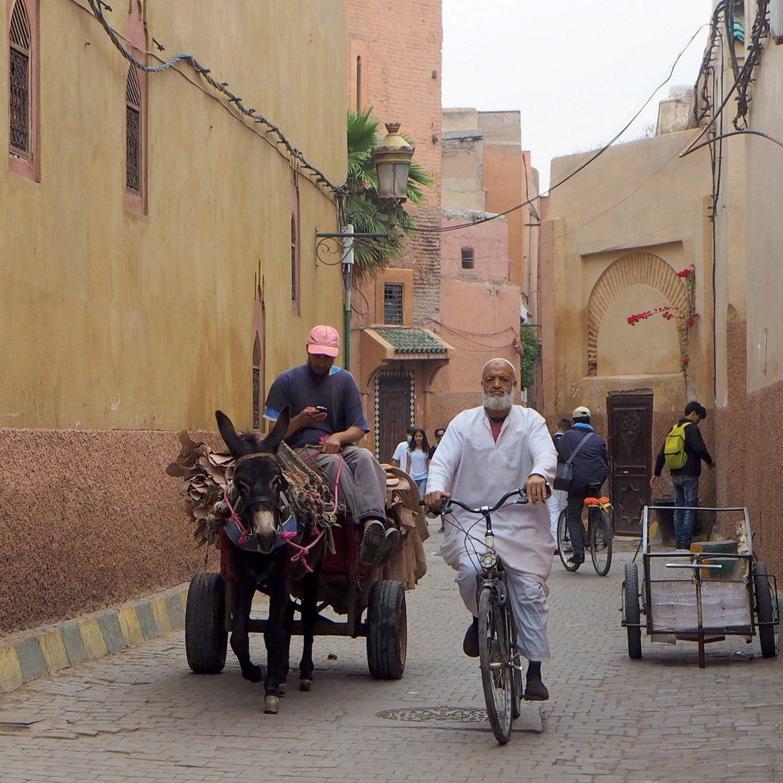 Marrakesh medina trafic