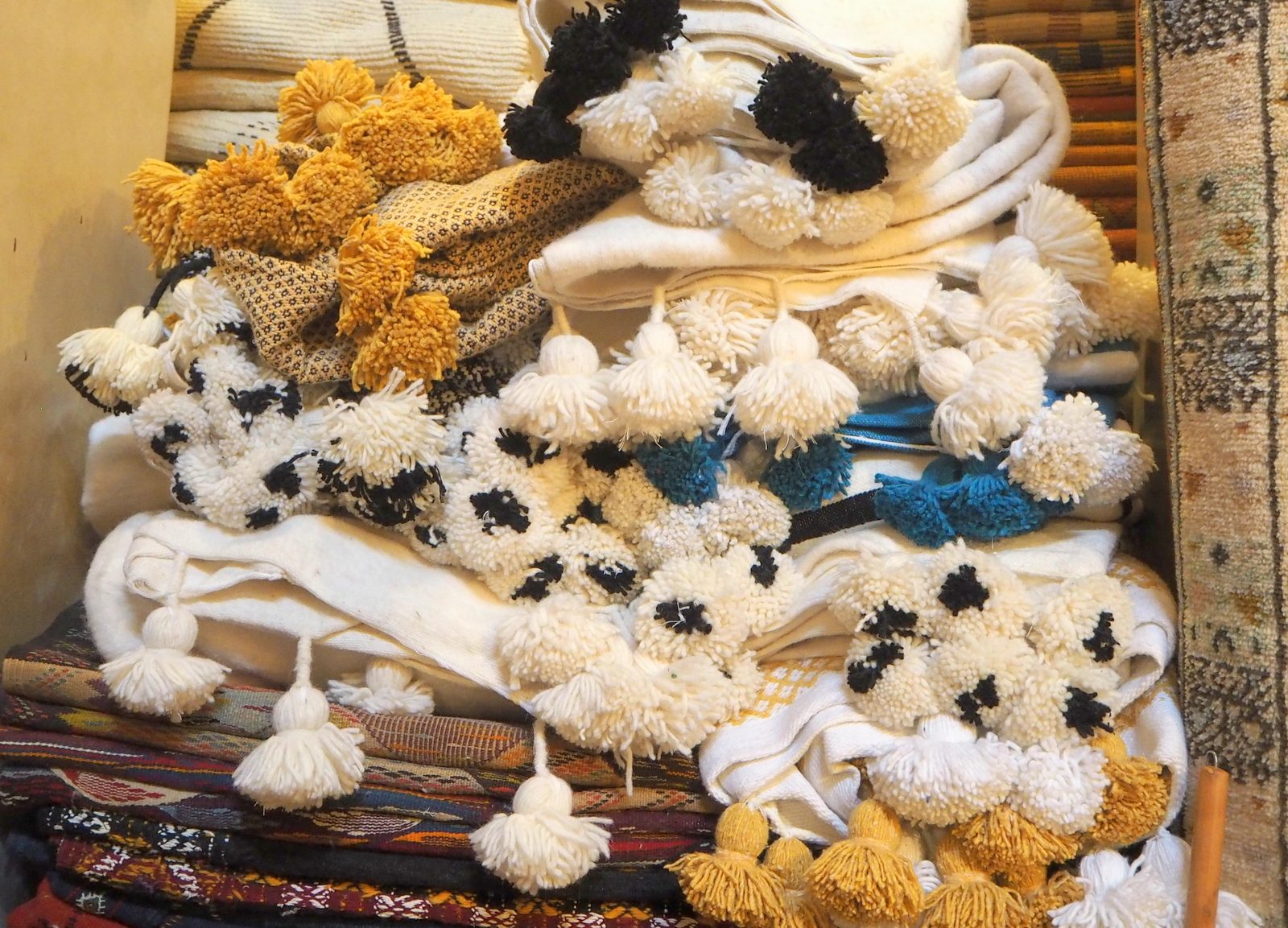 Marrakesh medina carpets