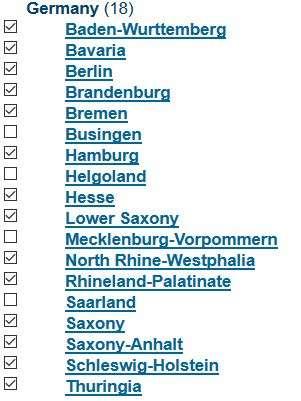 MTP-pisteet Saksa
