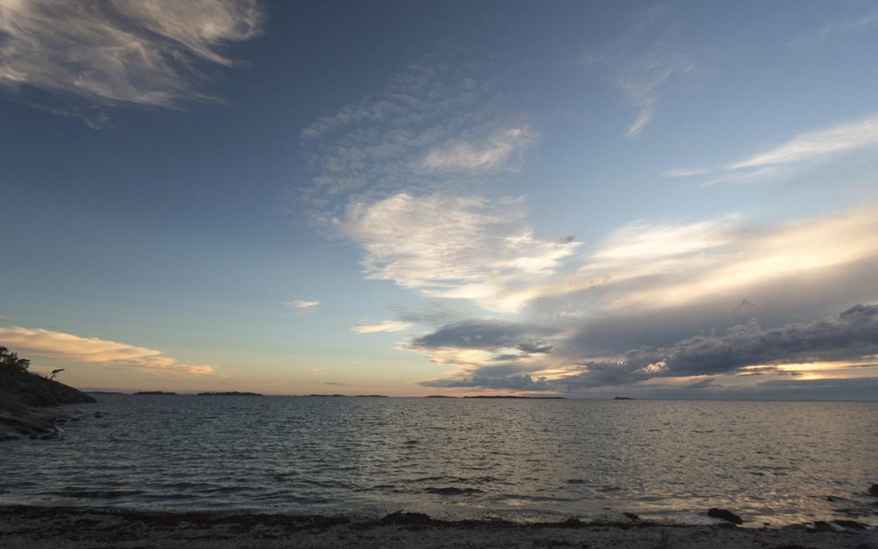 Auringonlasku Varisniemi