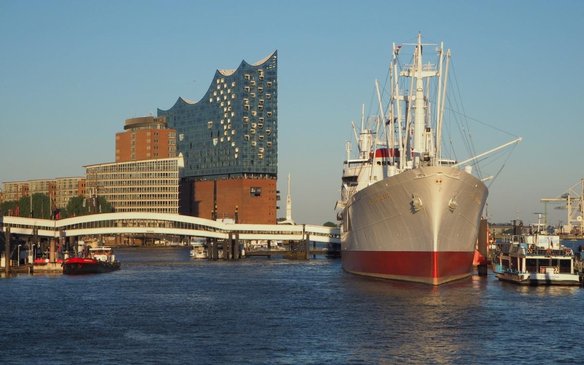 Elbphilharmonie Hamburg Hampuri satama alue