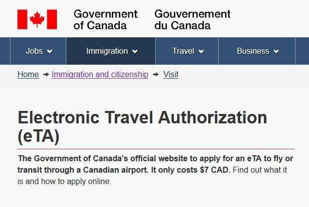 Canada ETA