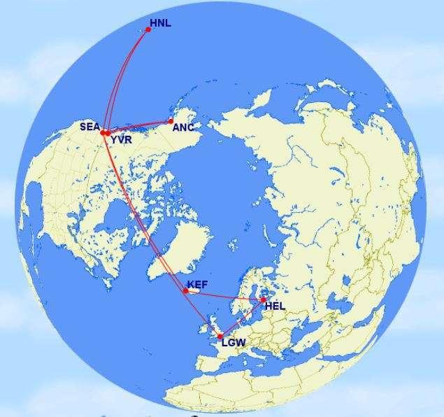 Alaska Havaiji risteilyt lennot