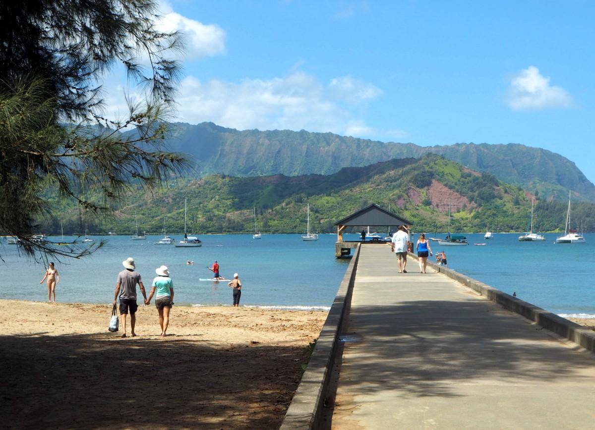 Hanalei Pier Kauai Havaiji