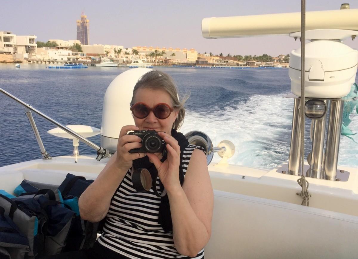 Veneellä Obhurin lahdella