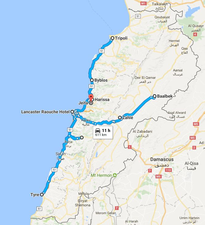 Libanonin Arial Travelin matkassa