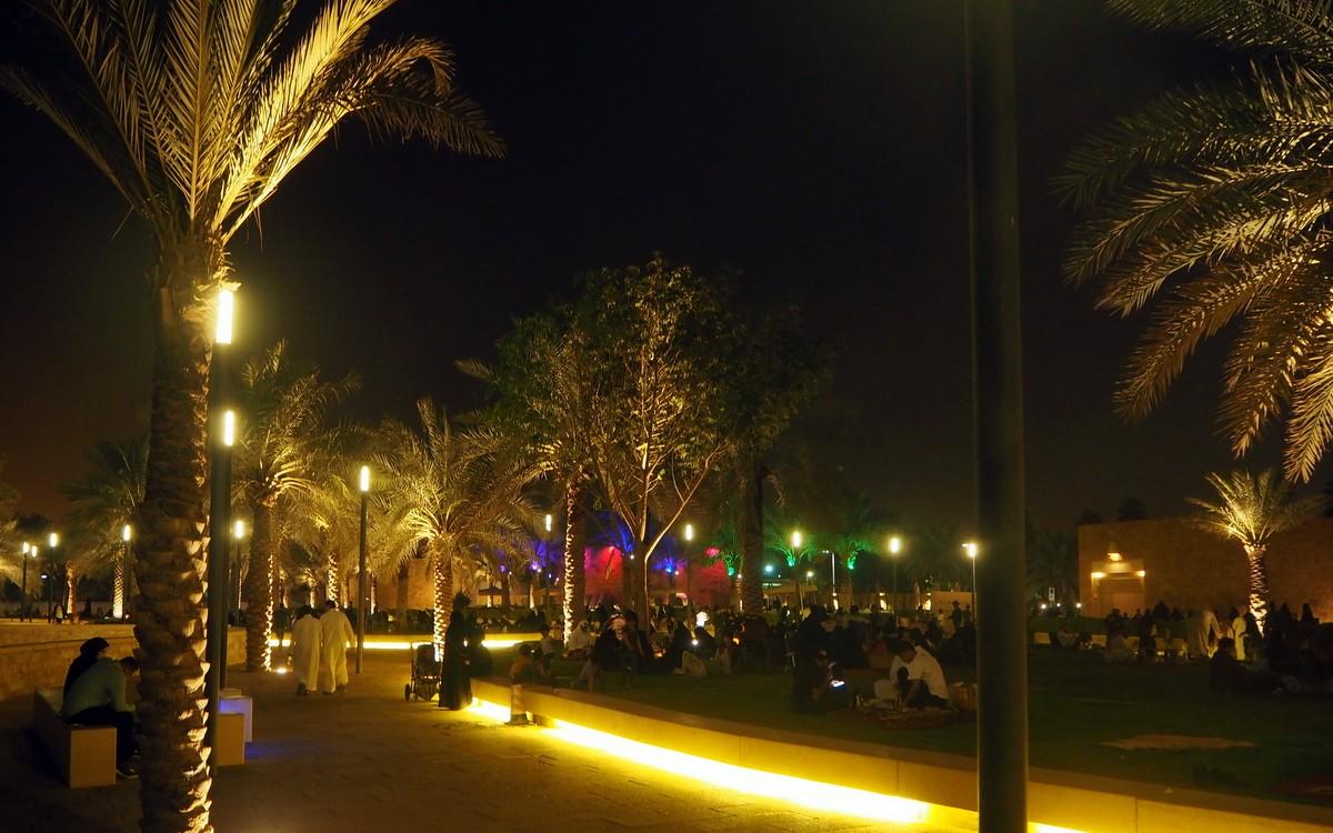 Riadin illassa Saudi-Arabiassa