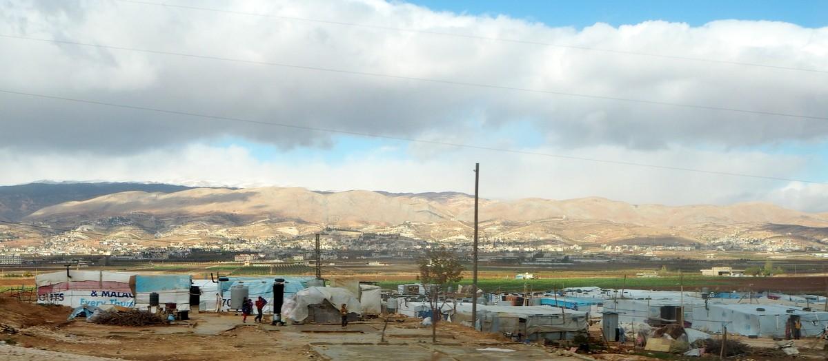 Syyrian pakolaisia Bekaan laaksossa