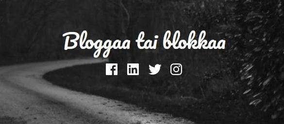 Bloggaa tai blokkaa feature