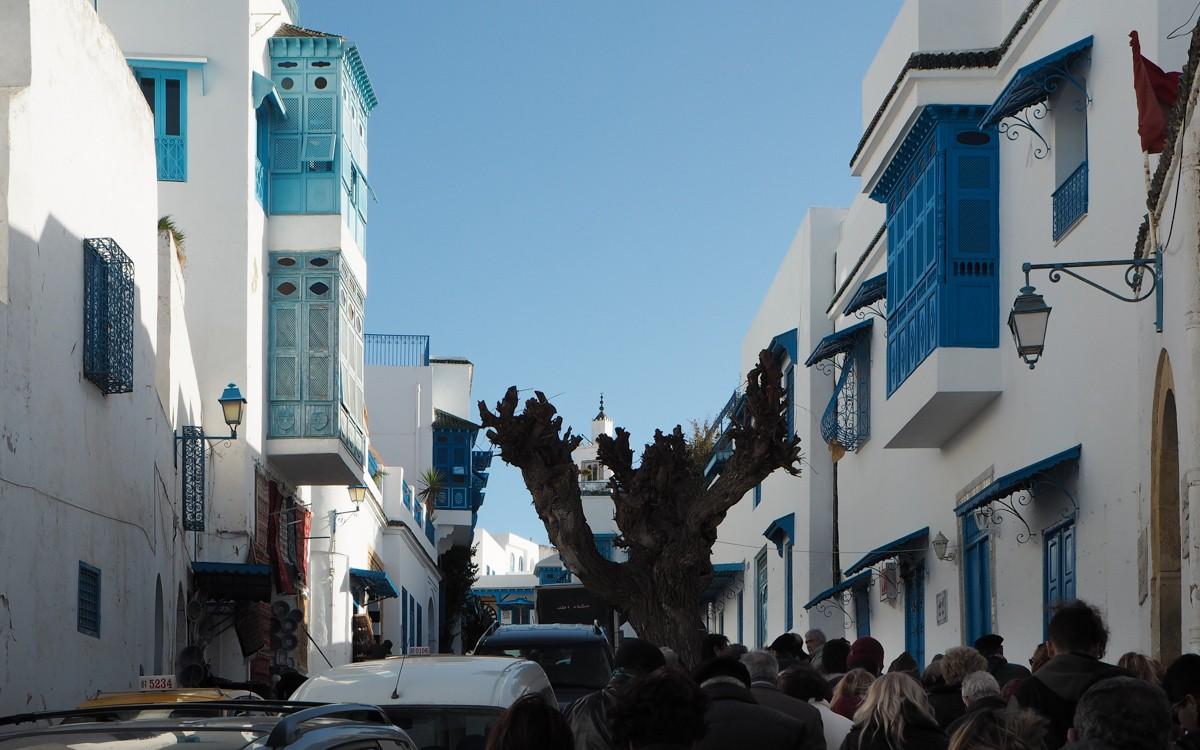Sidi Bou Saidissa on taas turisteja