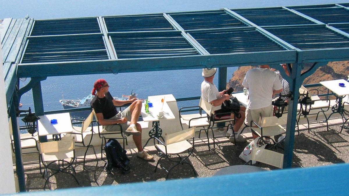 Santorini 2004 Meriharakka-blogi 14 vuotta