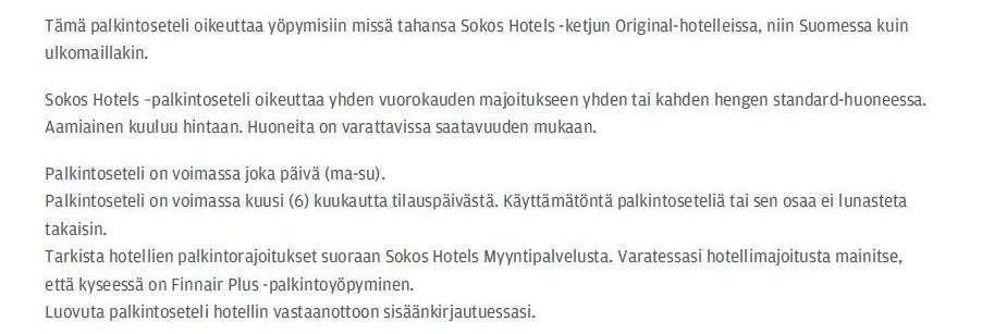 Finnair hotellivoucher