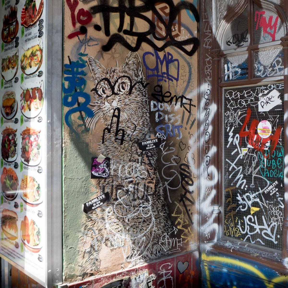 Berlin Katze Street Art Kreuzberg