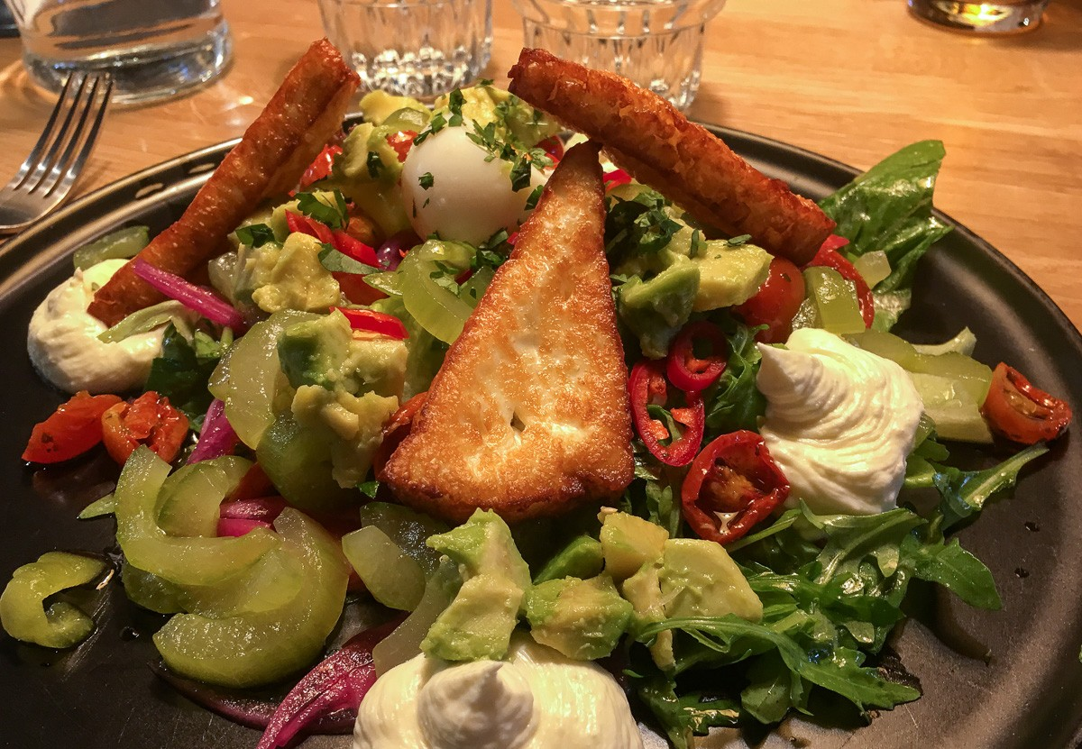 Fat Lizard Halloumi Salad