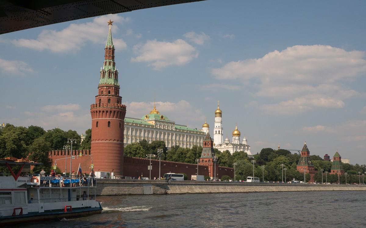 Moskova jokiristeily Moskovan nähtävyydet