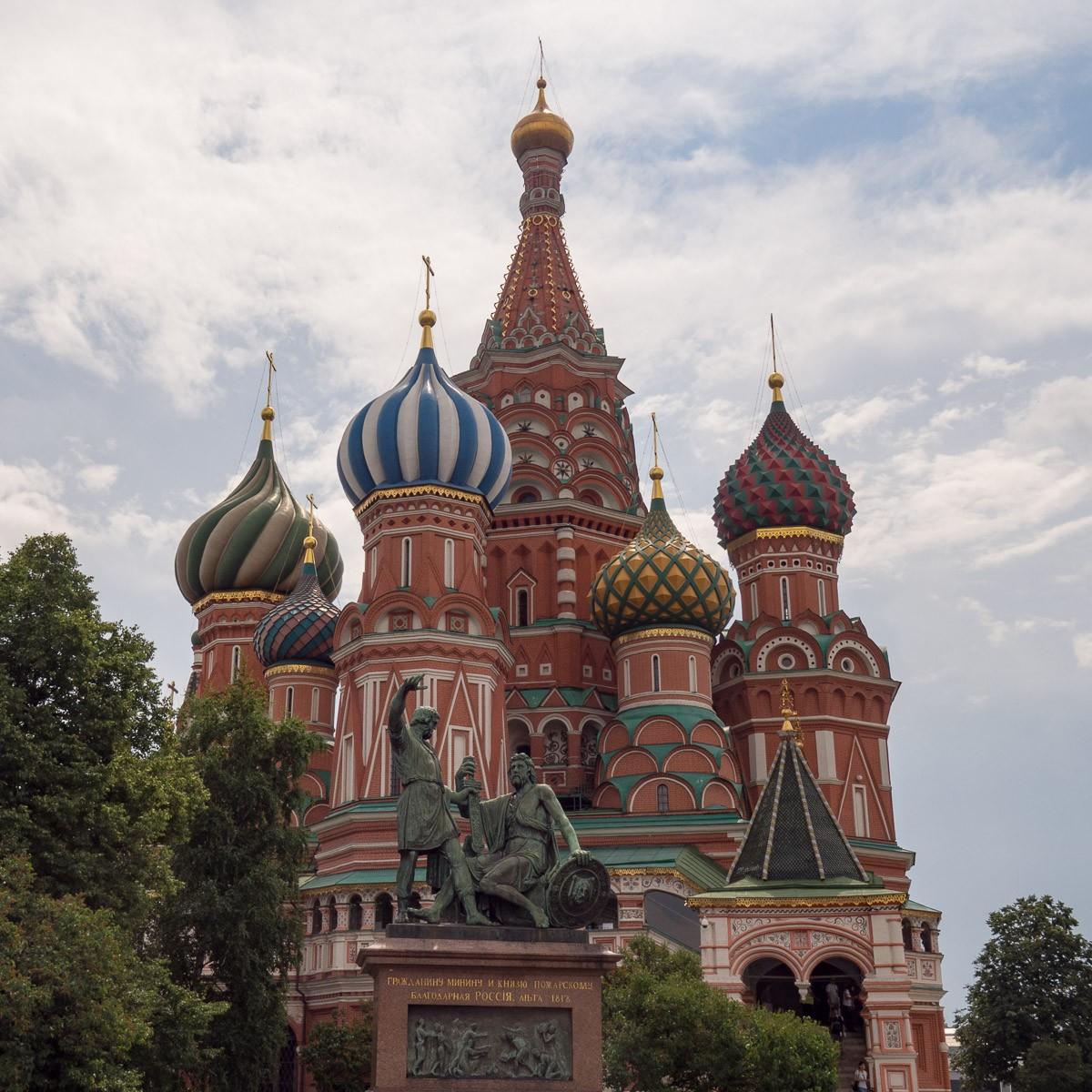 St Basil cathedral Moskova