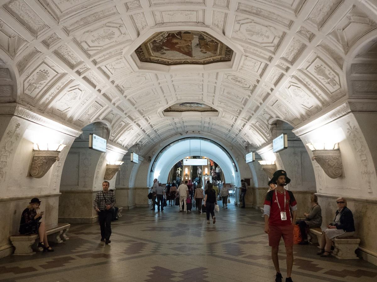 Moscow metro Belorusskaya Moskovan metro