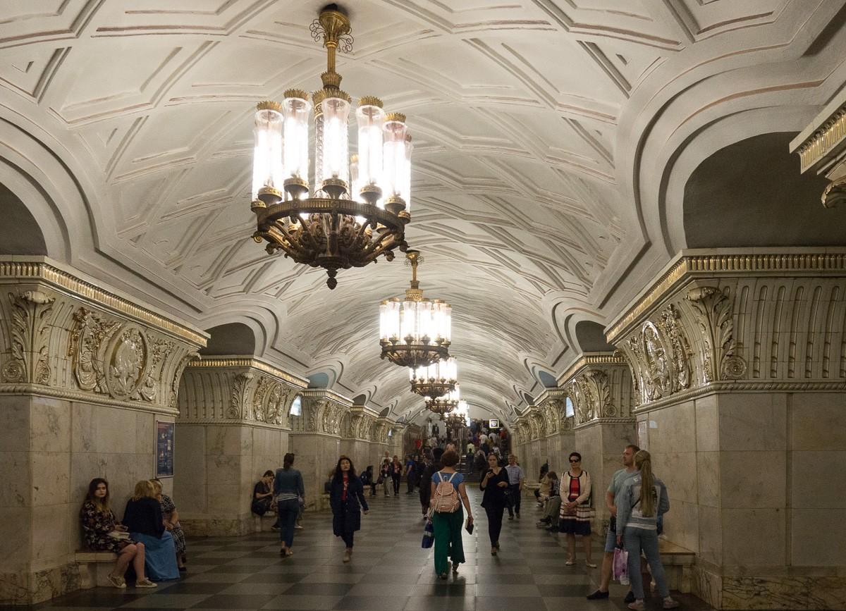 Moscow metro Prospekt Mira Moskovan metro