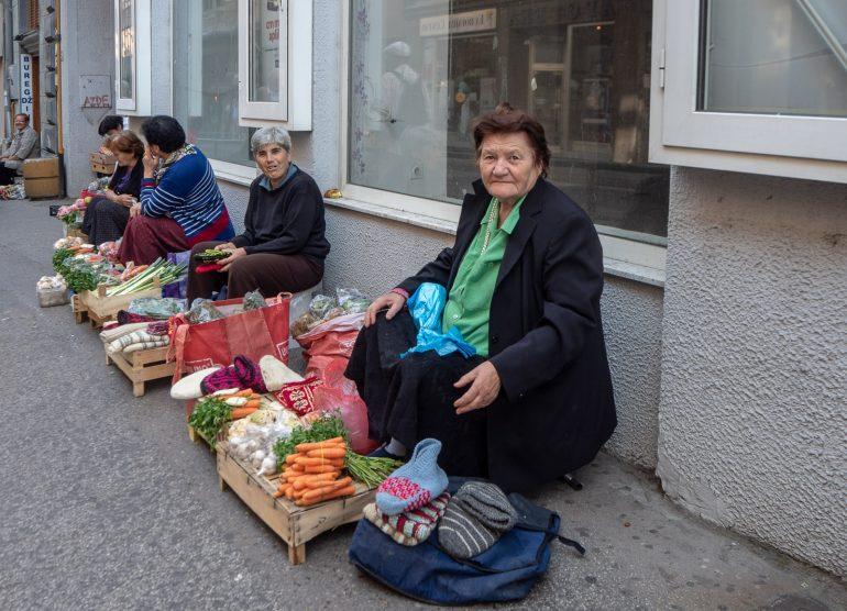 Katukauppiaita Sarajevossa