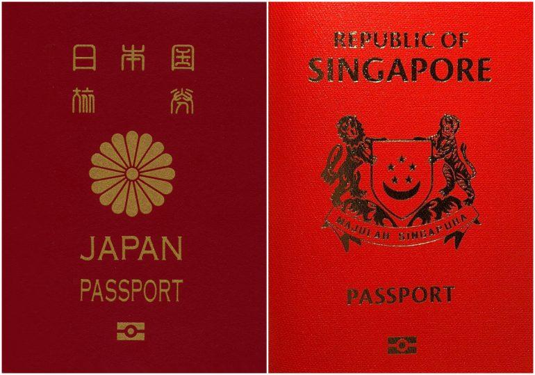 Japani ja Singapore passit Suomen passi 2019