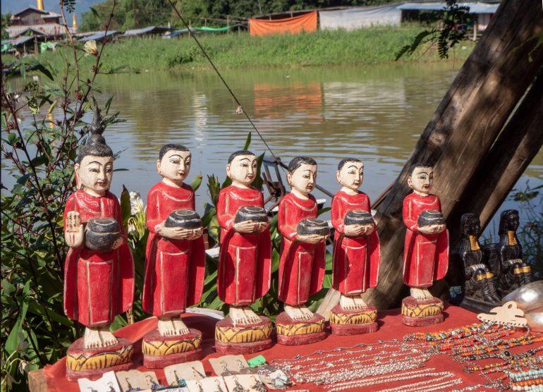 Inle markkinat Myanmar