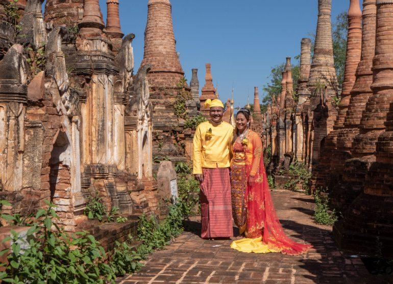 Prewedding pictures Inle Matkusta Myanmariin