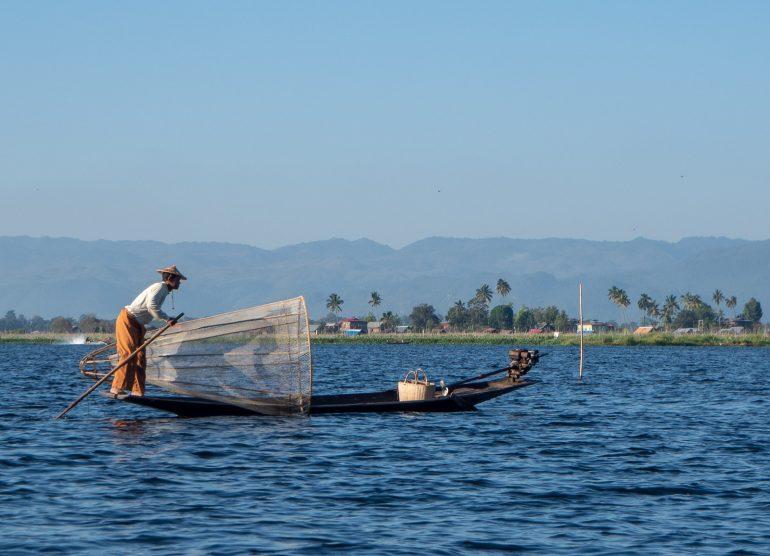 Inle Myanmar kalastajat