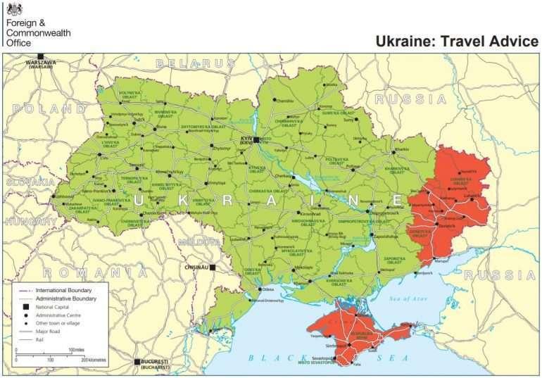 Ukraina matkustustiedote