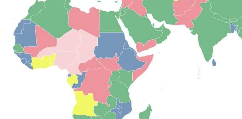 Afrikkaa 13 maata, jonne emme matkusta